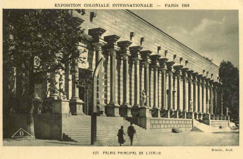 Carte postale ancienne Expo 1931 Italie à
