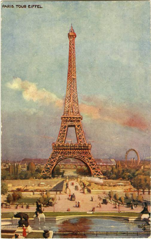 Carte postale ancienne Paris. Tour Eiffel. 933 P 30 (NBY 419275) à
