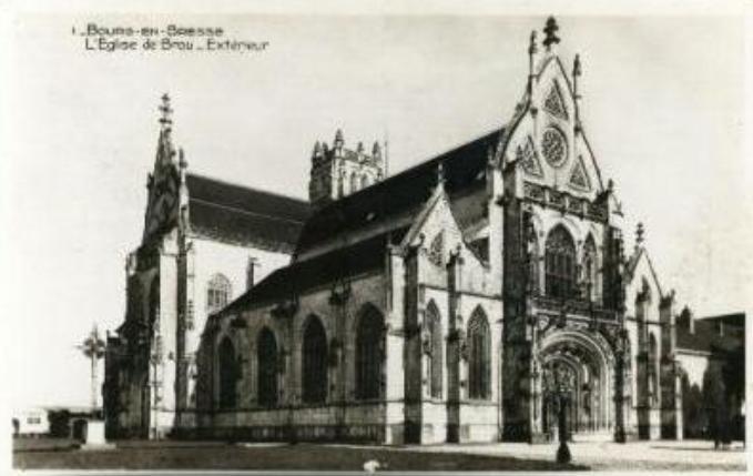 Carte postale ancienne 01-Bourg-en-Bresse-Eglise de Brou-Nd à Bourg-en-Bresse