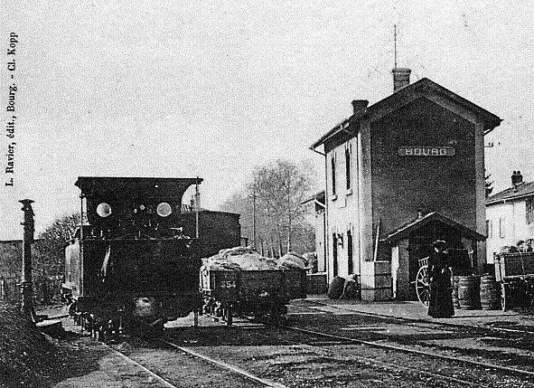 Carte postale ancienne Gare Bourg Mail 1 à Bourg-en-Bresse