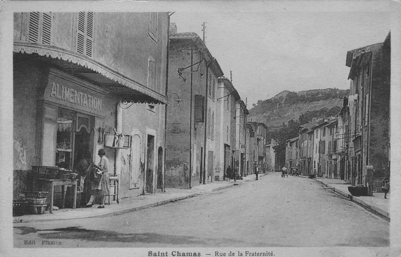 Carte postale ancienne Saint-chamas rue de la fraternite à