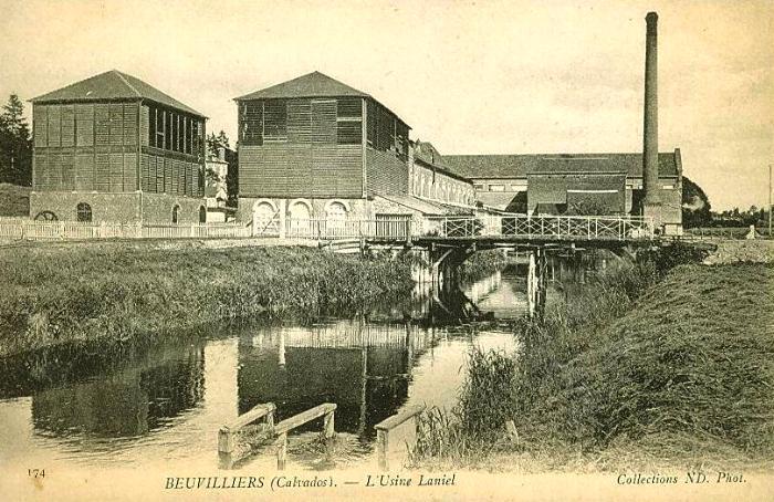 Carte postale ancienne Beuvillers l'usine Laniel à