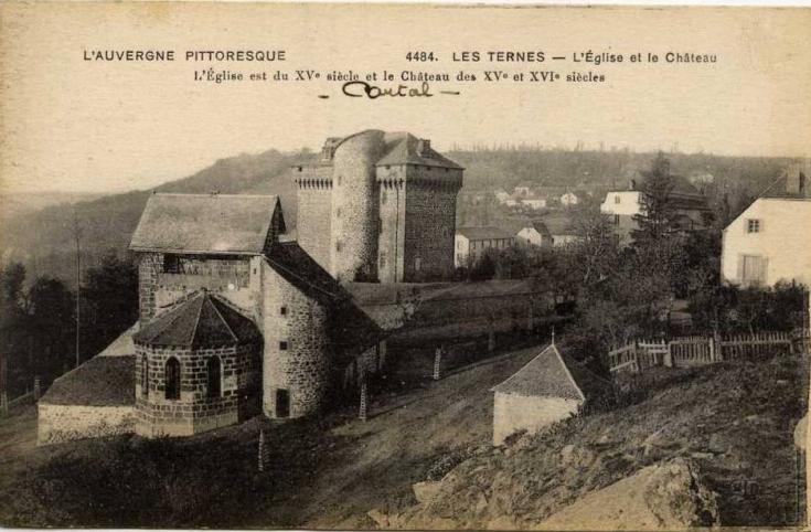 Carte postale ancienne Chateau des Ternes avant restauration aux Ternes
