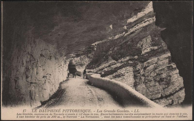 Carte postale ancienne Le Dauphiné Pittoresque - Les Grands Goulets à Saint-Martin-en-Vercors