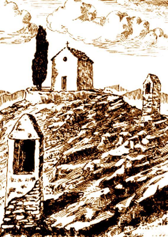 Carte postale ancienne Mirabel-les-Baronnies Oratoires de la chapelle du Saint-Sépulcre à