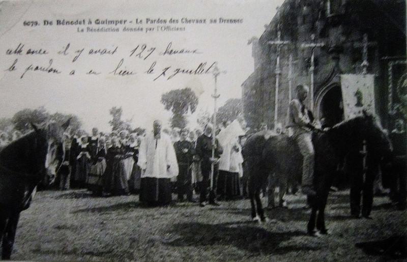 Carte postale ancienne 150 Le pardon des chevaux au Drennec à Clohars-Fouesnant