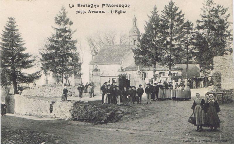 Carte postale ancienne Arzano église à Arzano