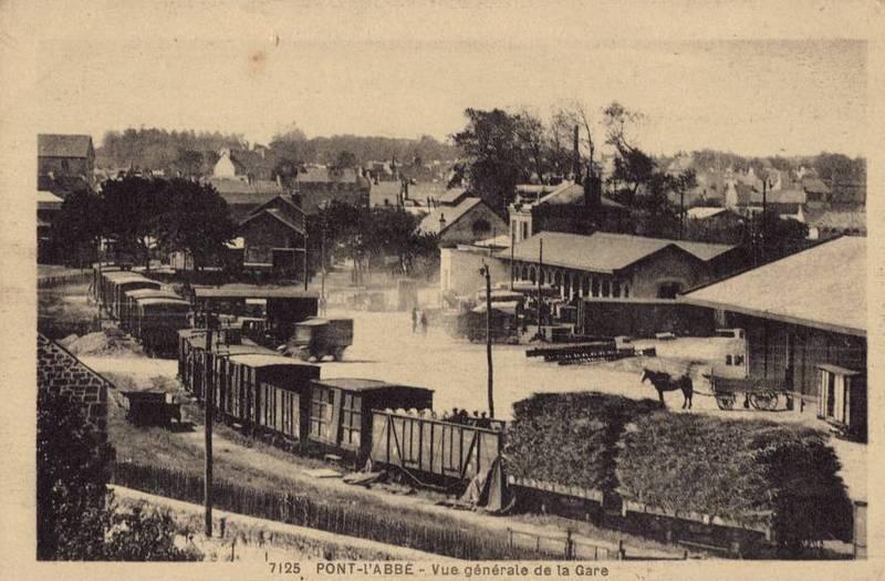 Carte postale ancienne Cfdf-Pont-lAbbe à Pont-l'Abbé