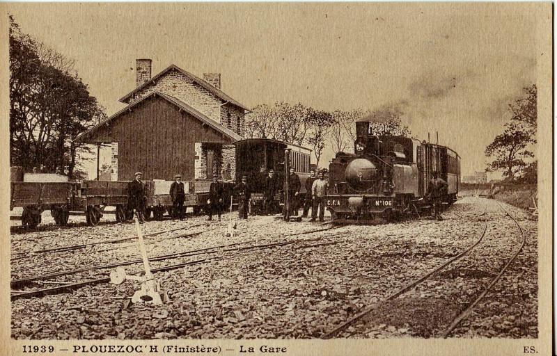 Carte postale ancienne Es 11939 - Plouezoc'H - La Gare à Plouezoc'h