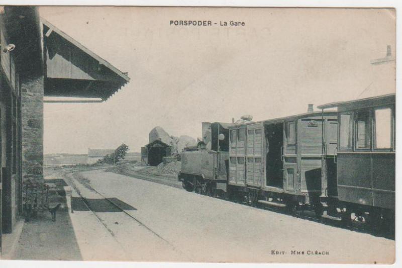 Carte postale ancienne Gare porspoder 1933 à Porspoder
