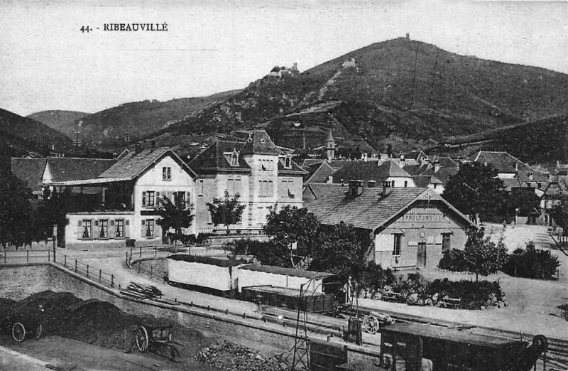 Carte postale ancienne Gare-Ribauvillé-ville-1900 à Ribeauvillé