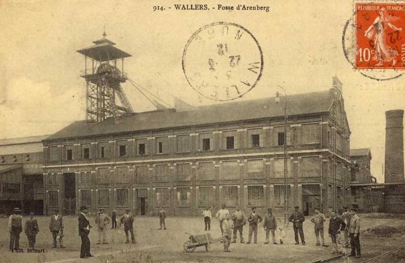 Carte postale ancienne Fosse d'Arenberg à Wallers