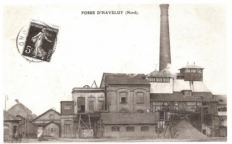 Carte postale ancienne Fosse Haveluy en 1900 à Haveluy
