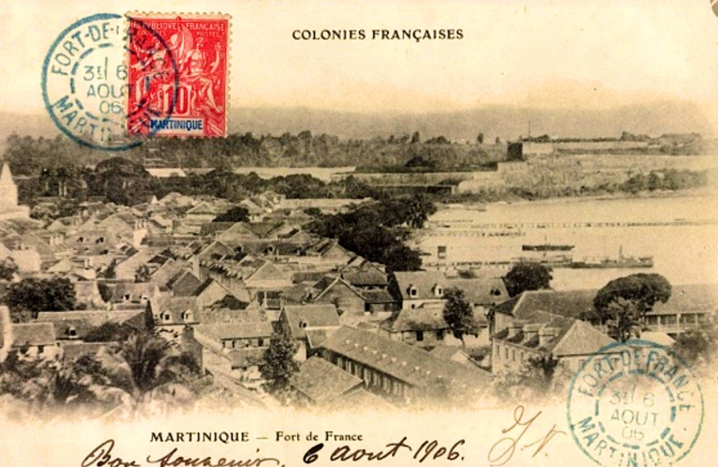 Carte postale ancienne Martinique Fort-de-France
