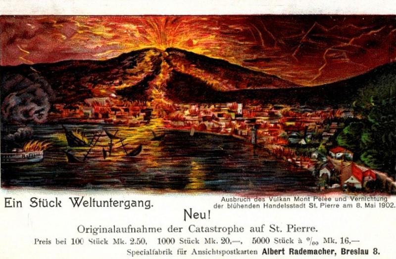 Carte postale ancienne Martinique La catastrophe de Saint-Pierre