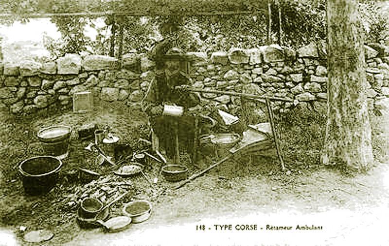 Carte postale ancienne Corse rétameur à