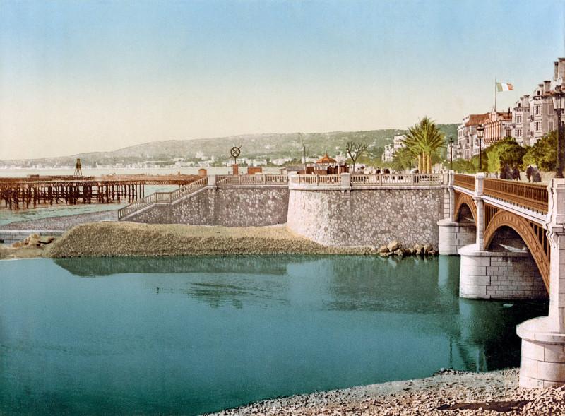 Carte postale ancienne Flickr - …trialsanderrors - Pont Napoléon ^ Boulevard du Midi, Nice, France, ca. 1889 (1) à Nice