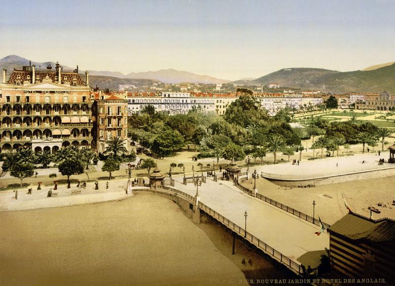 Carte postale ancienne Hotel des Anglais, Nice, France, 1890s à Nice