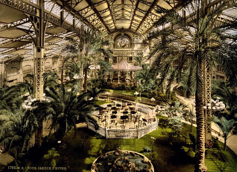 Carte postale ancienne Flickr - …trialsanderrors - Winter garden, Nice, France, ca. 1895 à Nice