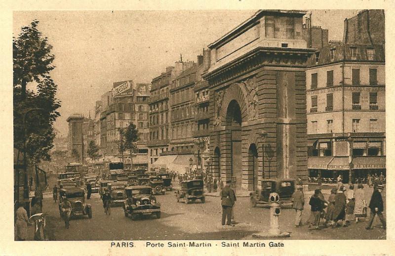 Carte postale ancienne Porte Saint-Martin à Paris 3e
