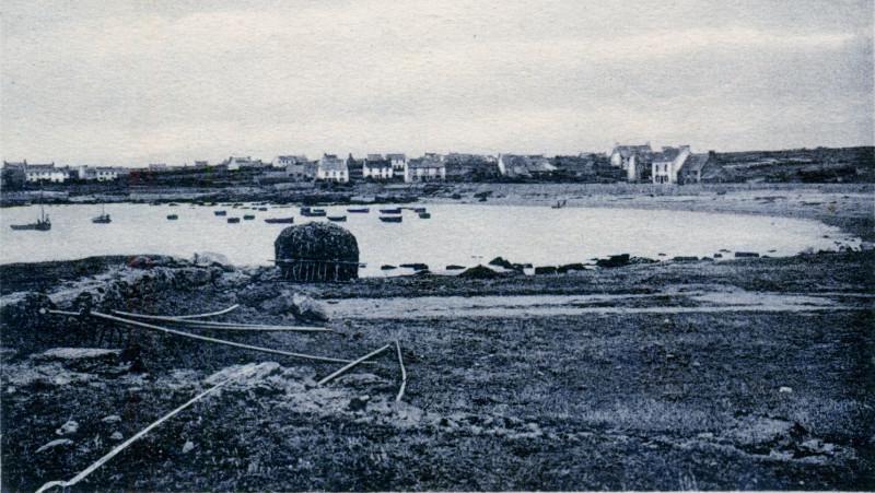 Carte postale ancienne Le port de Melon vers 1910 à Porspoder