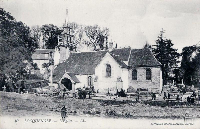Carte postale ancienne Locquenolé carte postale ancienne à Locquénolé