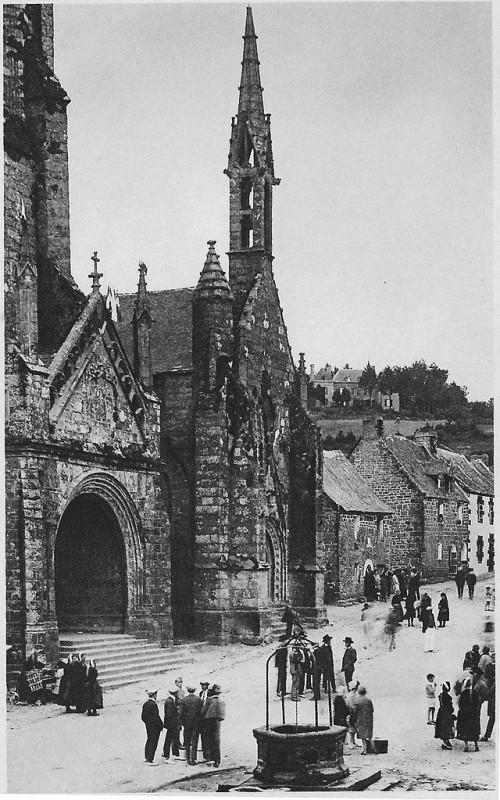 Carte postale ancienne Saint-Ronan kerk in Locronan briefkaart à Locronan
