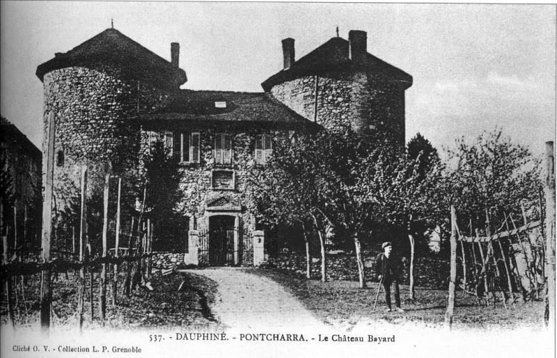 Carte postale ancienne Pontcharra, chateau Bayard, p123 L'Isère 1900-1920 - cliché O V, collection L P à Grenoble à