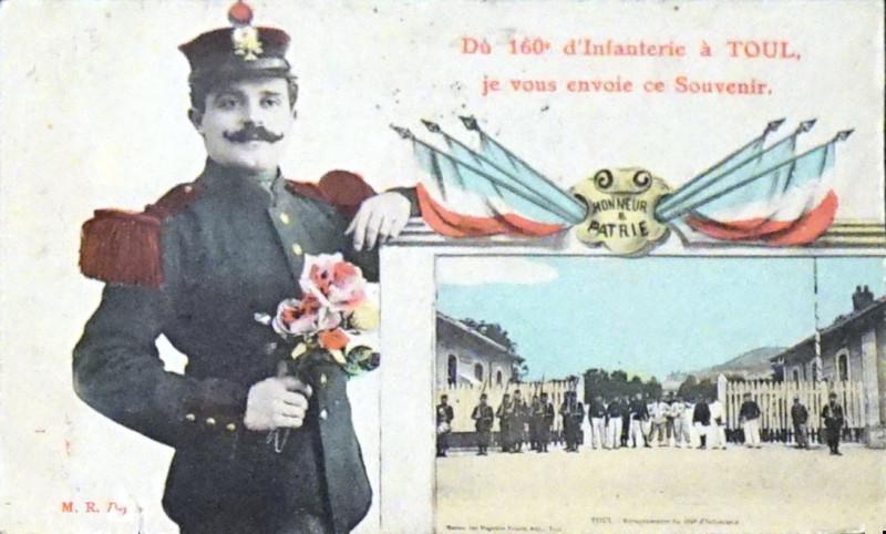 Carte postale ancienne 160e Ri 75185 à Toul