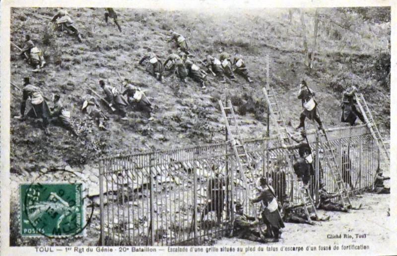 Carte postale ancienne 1e Régiment génie 75185 à Toul