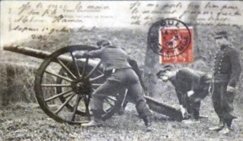 Carte postale ancienne Artillerie 1908 75185 à Toul