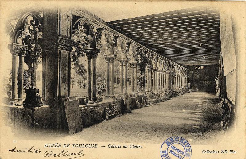 Carte postale ancienne 11. Musée de Toulouse. Galerie du Cloître. Collections Nd Phot. - FRAC31555 9Fi1832 à Toulouse