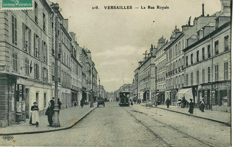 Carte postale ancienne Eld 218 - Versailles - La Rue Royale à Versailles