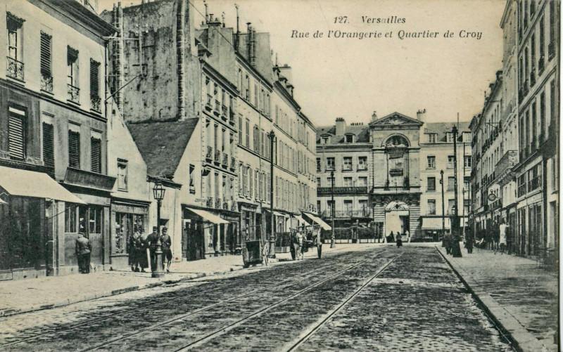 Carte postale ancienne Rue de l'Orangerie et Quartier de Croy à Versailles