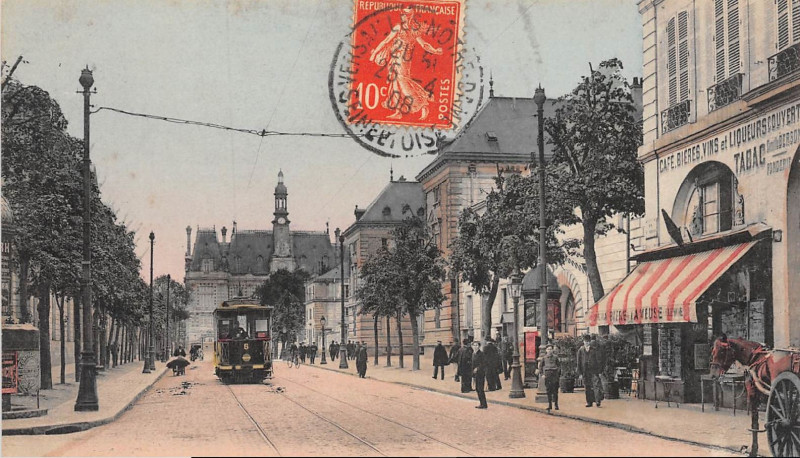 Carte postale ancienne La Rue Saint Pierre à Versailles