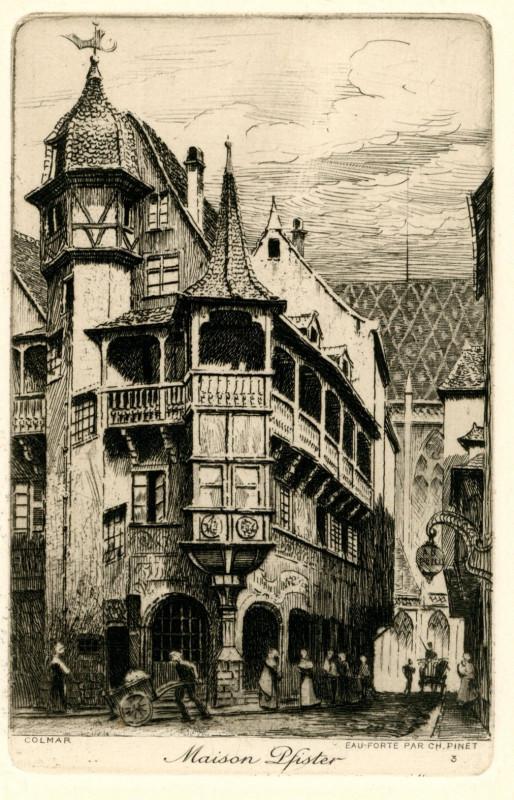 Carte postale ancienne Colmar n° 3 Maison Pfister à Colmar
