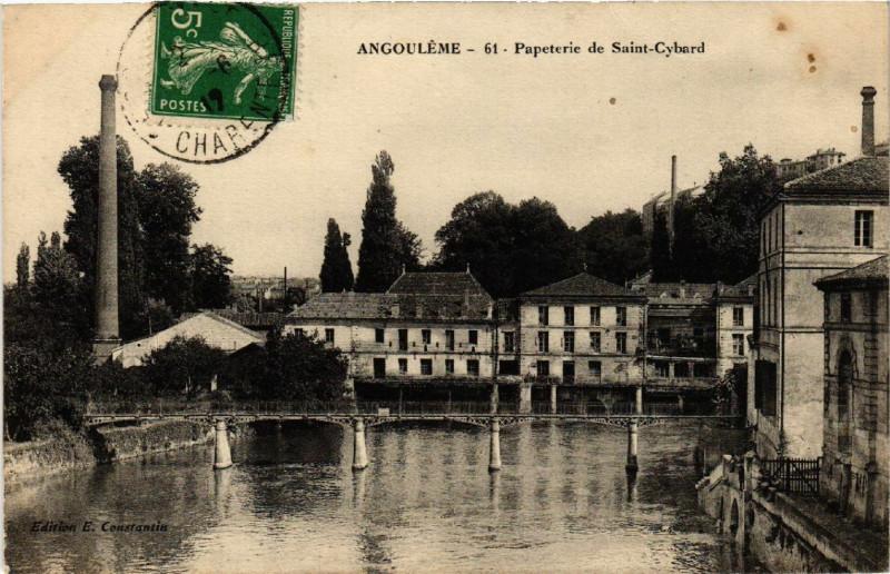 Carte postale ancienne Angouleme - Papeterie de Saint-Cybard à Angoulême