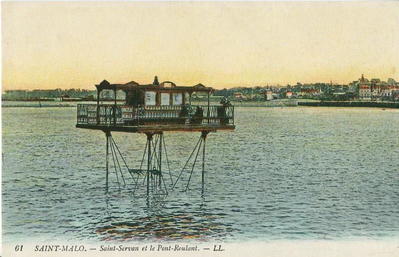 Carte postale ancienne Saint-Servan et le Pont-Roulant à Saint-Malo