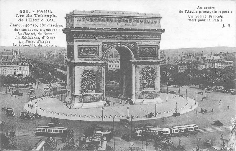 Carte postale ancienne Arc de Triomphe de l'Etoile à Paris 16e