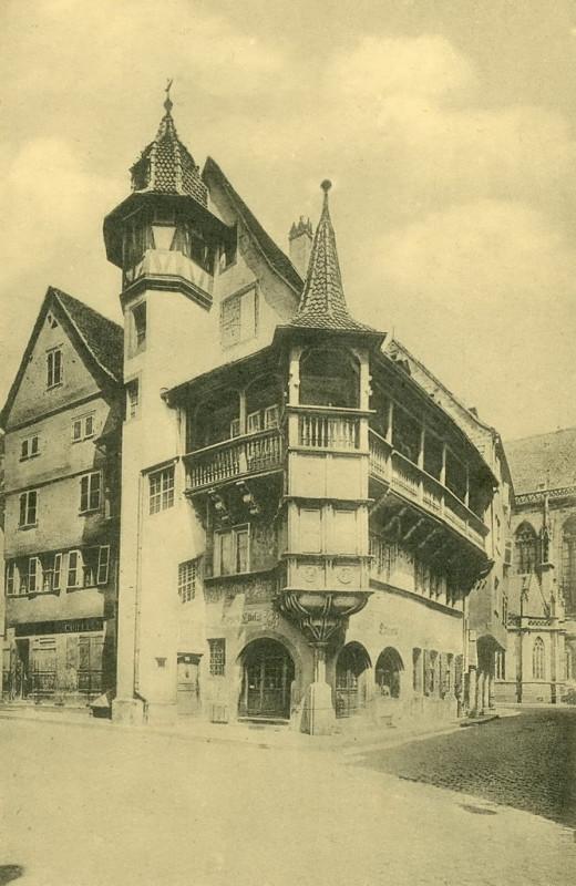 Carte postale ancienne Colmar ~ 1900. La Maison Pfister iz. XVI. stoljeća. à Colmar