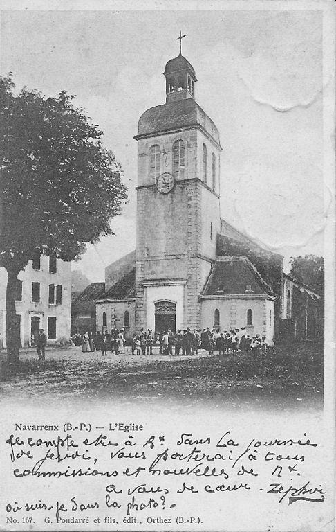 Carte postale ancienne Navarrenx-L'Eglise Saint-Germain-d'Auxerre-Pondarré 167 recto à Navarrenx