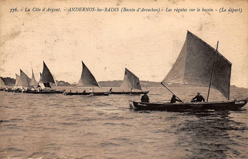 Carte postale ancienne Andernos-les-Bains - Les bords du Bassin 2 à