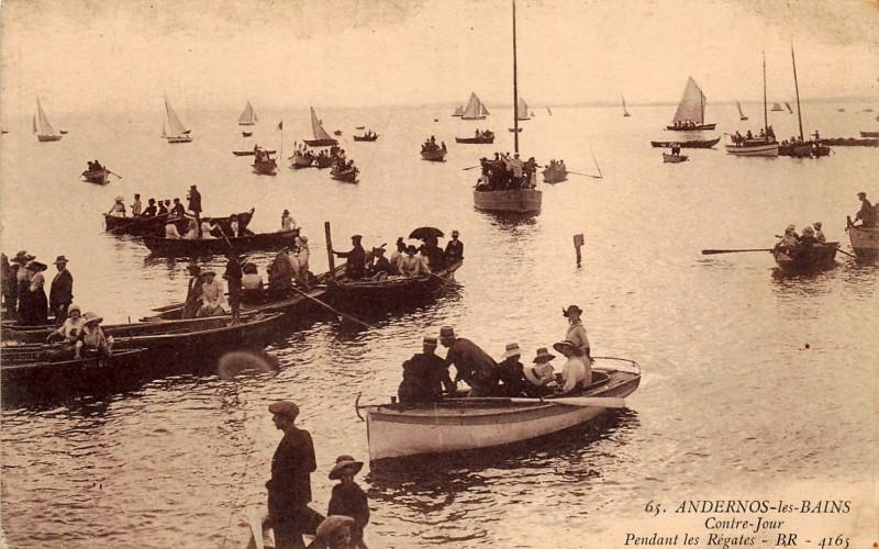 Carte postale ancienne Andernos-les-Bains - Les bords du Bassin 3 à