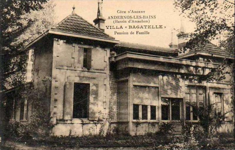 Carte postale ancienne Andernos-les-Bains - Villa Bagatelle 2