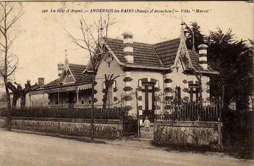 Carte postale ancienne Andernos-les-Bains - Villa Marcel 1