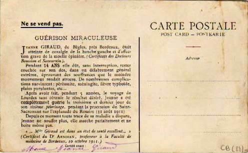 Carte postale ancienne Bègles - Jeanne Giraud b à