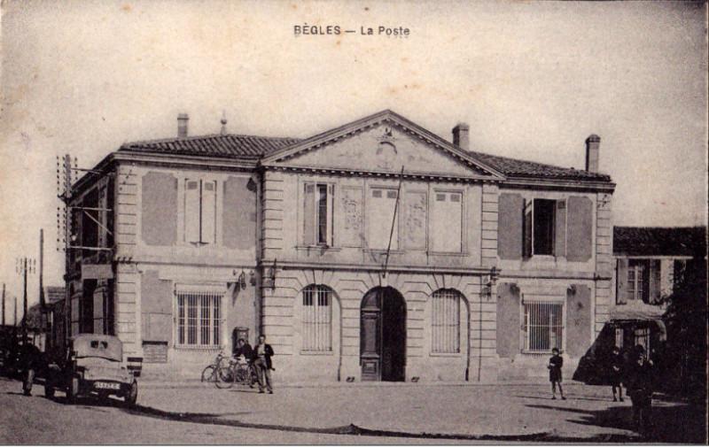 Carte postale ancienne Bègles - La Poste à