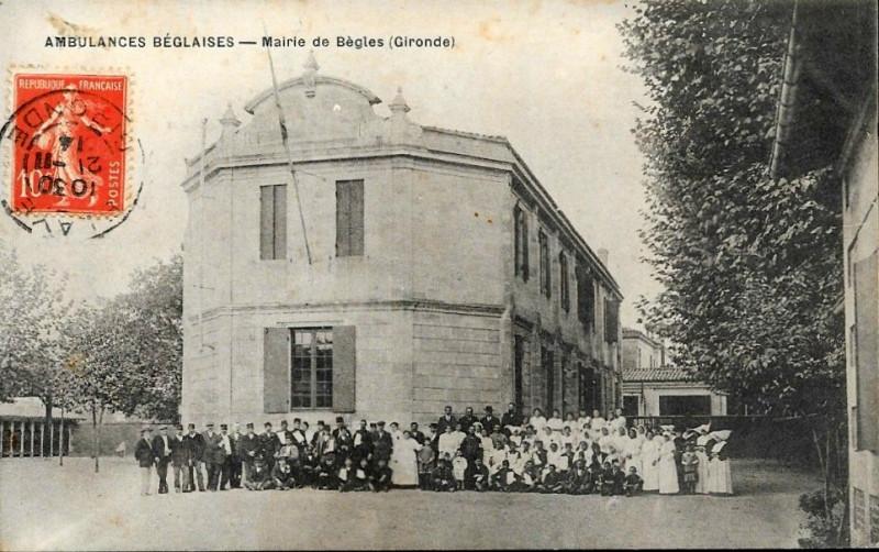 Carte postale ancienne Bègles - Mairie à