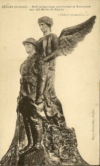 Carte postale ancienne Bègles - Monument aux morts 1 à