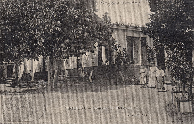 Carte postale ancienne Bouliac Domaine de Bellevue 1 à